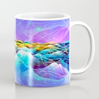 data Mugs featuring Data Sea by NatalieCatLee