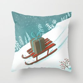 sled post Throw Pillow