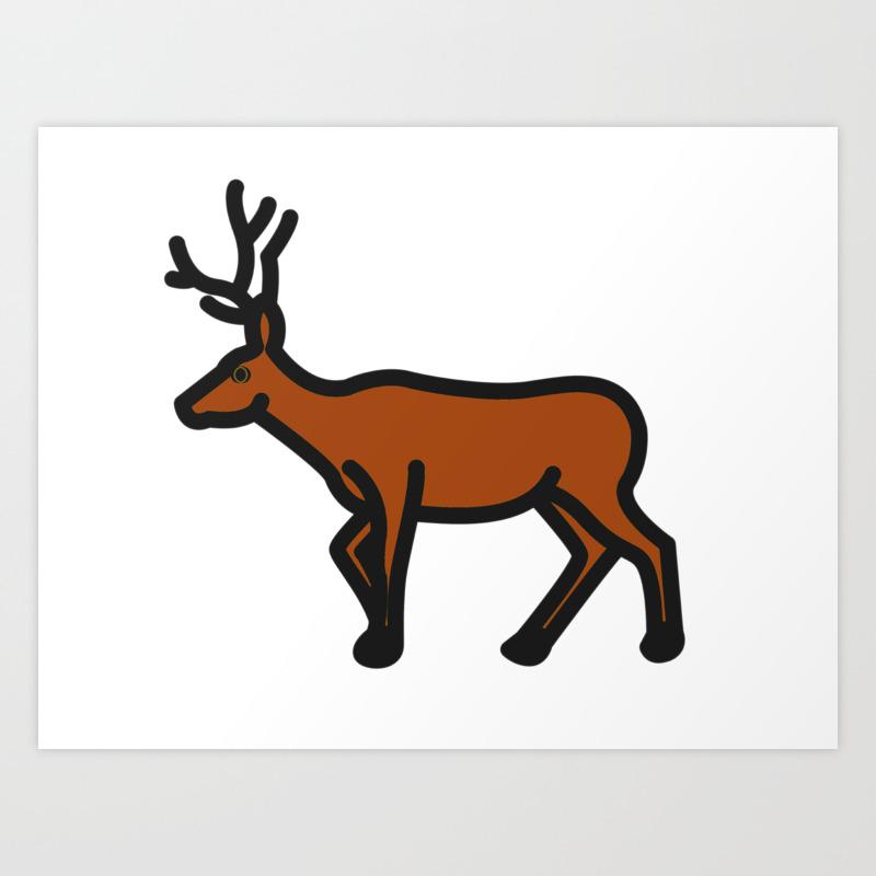 Blitzer The Reindeer Art Print By Otimoepiphany Society6