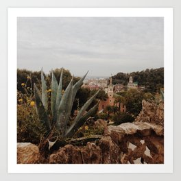 Barcelona landscape Art Print