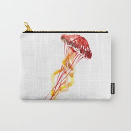 Jellyfish Red Yellow Beach Art Carry-All Pouch