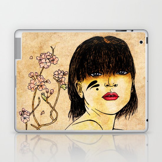 Portrait - asian woman Laptop & iPad Skin