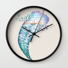 Sail away with me honey Wall Clock