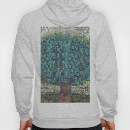 Tree Town - Magical Retro Futuristic Landscape Hoody