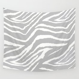 ZEBRA 2 GRAY AND WHITE ANIMAL PRINT Wall Tapestry