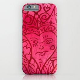 Valentine's Day Doodle iPhone Case