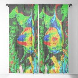 Retro Dolphin Sheer Curtain