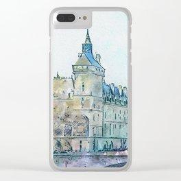 La Seine 4 by Jennifer Berdy Clear iPhone Case