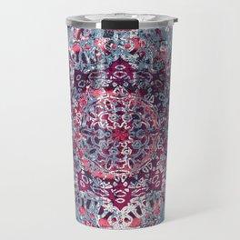 Vintage Boho Burgundy Mandala Travel Mug