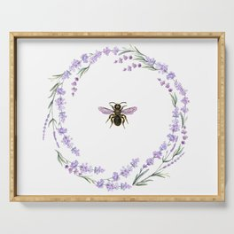 Lavender Bee Serving Tray