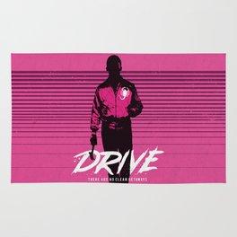 Drive art movie inspired Rug