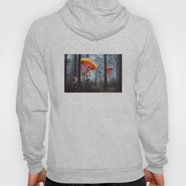 ElectricJellyfish Worlds in a Forest Hoody