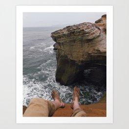 Off the Cliffs Art Print