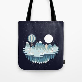 Winter skull Tote Bag