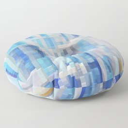 Abstract blue pattern 2 Floor Pillow
