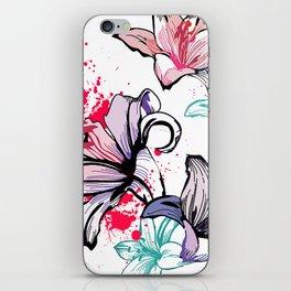 Splashy Flowers iPhone Skin