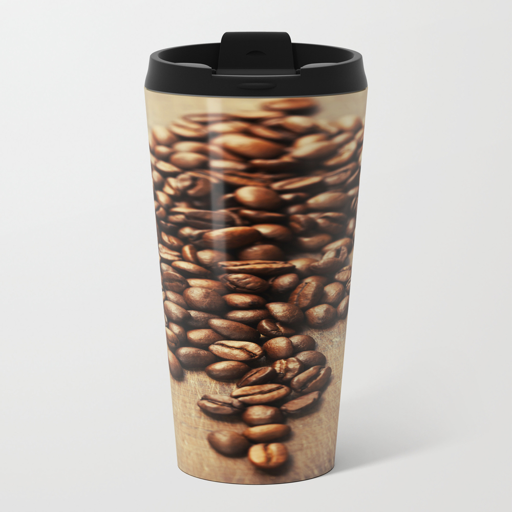Coffee Beans On Wooden Background Travel Mug TRM8621128