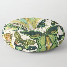 Vintage Butterfly Print Floor Pillow