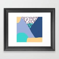 MODERN MEMPHIS MOUNTAINS BEYOND THE PLATEAU Framed Art Print