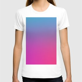 WIZARDS CURSE - Minimal Plain Soft Mood Color Blend Prints T-shirt