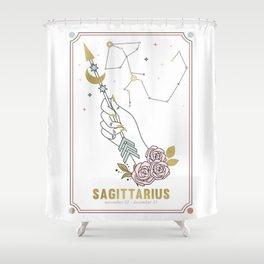 Sagittarius Zodiac Series Shower Curtain