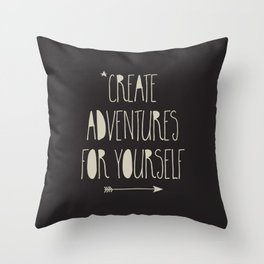 Create Adventures Throw Pillow