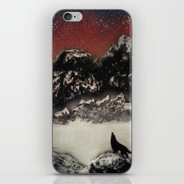 The Wolf and the Snow iPhone Skin