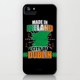 Made In Ireland Distressed iPhone Case