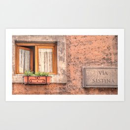 The Streets of Italy Art Print