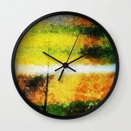 painted tree multi Wall Clock