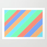 Channelled Art Print