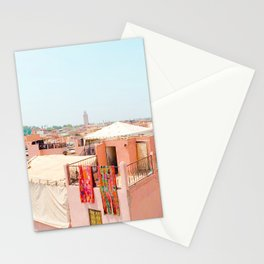 Marrakesh, Morocco's Pink Medina Buildings from Above Stationery Cards