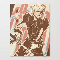 dragon age Canvas Prints featuring Dragon Age: Fenris by Sara Cuervo