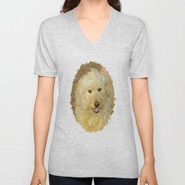 Dog Goldendoodle Golden Doodle Unisex V-Neck
