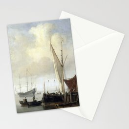 Willem van de Velde the Younger - Harbor view Stationery Cards