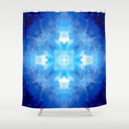Azure Escape Shower Curtain