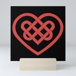 Celtic Heart (Dark) Mini Art Print