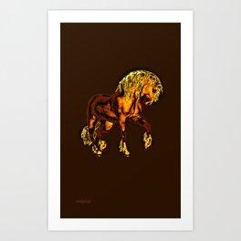 HORSES-Golden Palomino Art Print