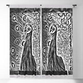 The Peacock In Heavy Metal Pop Art Blackout Curtain