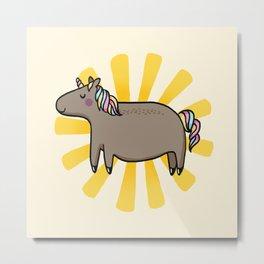 Chubby Unicorn Metal Print