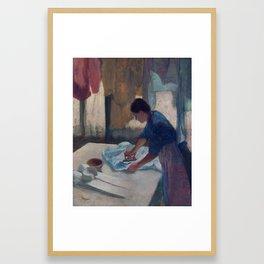 Edgar Degas, Woman ironing, new colors Framed Art Print
