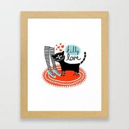 Kitty Love Framed Art Print