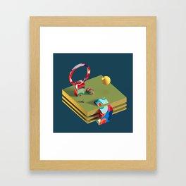 Much Ado in Candyland Framed Art Print
