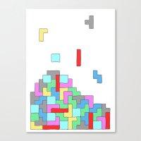 tetris Canvas Prints featuring Tetris by #dancingpenguin