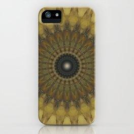 Mandala in golden tones iPhone Case