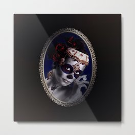 Lovely Sugarskullgirl Metal Print