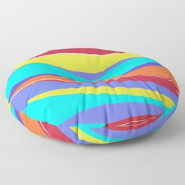 Waves of Colour Floor Pillow