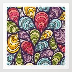 Color cells Art Print