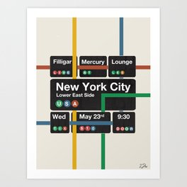 Filligar live in New York Art Print