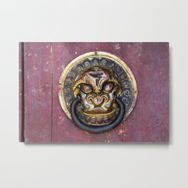 Knock knock - Erdene Zuu door knocker Metal Print